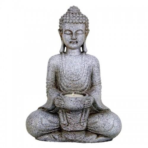 Estatua Buda de la Meditación con Portavela 27cm