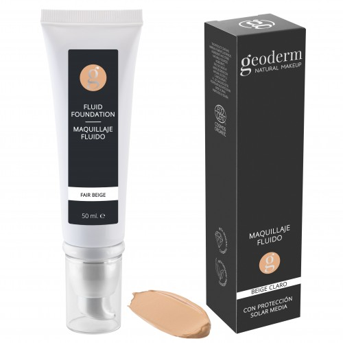 Makeup Maquillaje Fluido Beige Claro Bio Geoderm 50ml