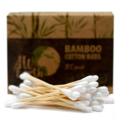 Bastoncillos de Algodón de Bambú Caja 200uds