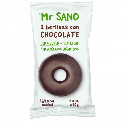Berlina de Chocolate Tipo Donut Doble Sin Gluten Mr Sano 2X50g