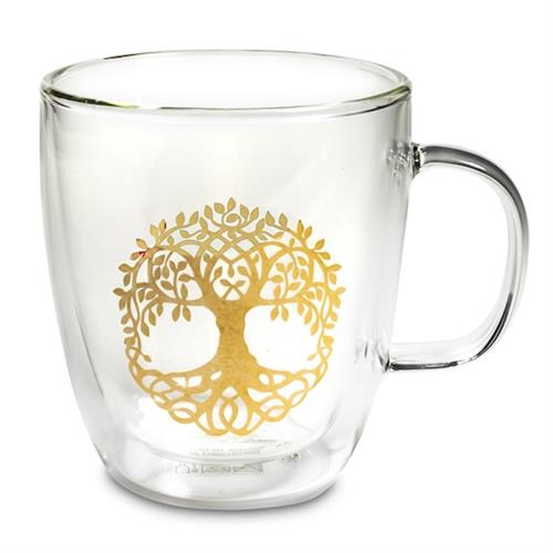 Vaso de Té de Doble Pared Árbol de la Vida 400ml