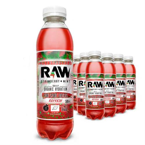 Raw Superdrink Fresa y Menta Bio 500ml