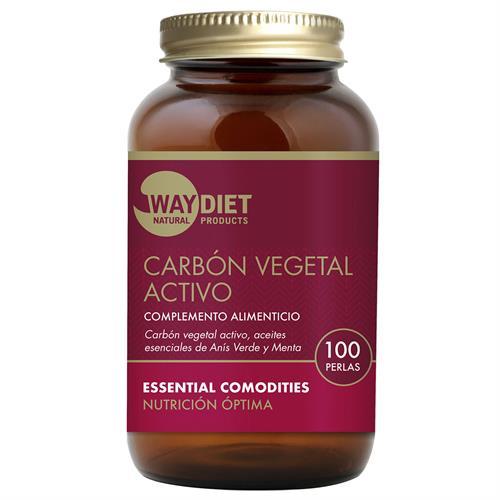 Carbón Vegetal Activo WayDiet 100 Perlas