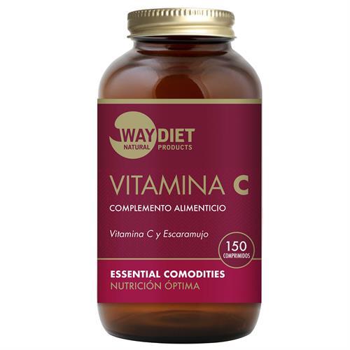 Vitamina C con Escaramujo WayDiet 150 Comprimidos