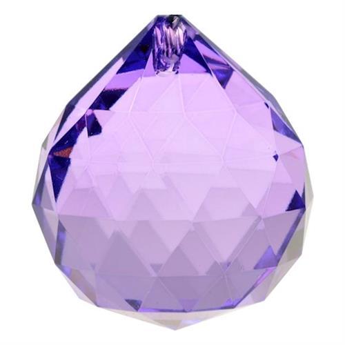 Cristal Arco Iris Bola Violeta Grande 4cm