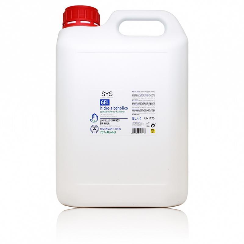 Gel Hidroalcohólico con Aloe Vera SyS 5L