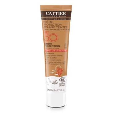 Crema Protección Solar con Color Cara y Escote SPF50+ Bio 40ml