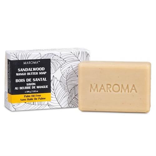 Jabón Exfoliante de Manteca de Mango y Sándalo Comercio Justo Maroma 150g
