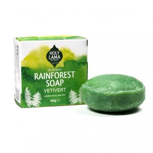 Jabón Ayurveda de Vetiver Holy Lama Rainforest 100g