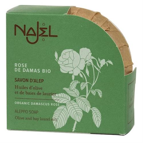 Jabón de Alepo con Rosa de Damasco Orgánica Najel 100g